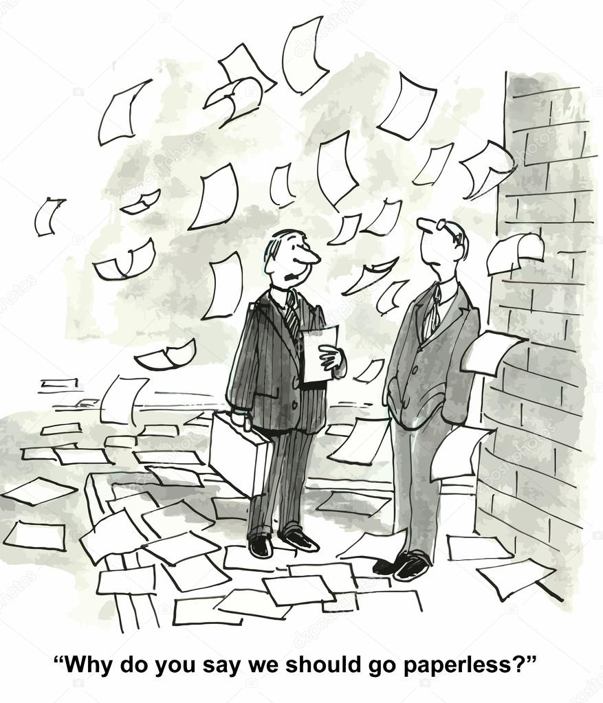 (Vector) Paperless Office