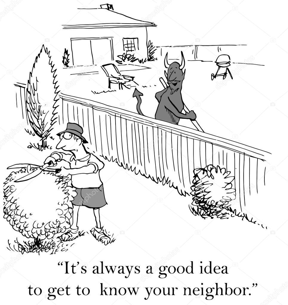 en djävul till granne