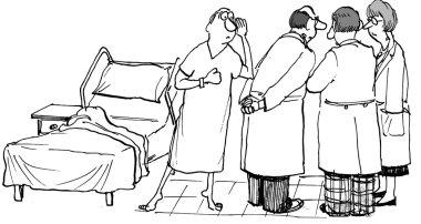 Patient overhears consultation of doctors