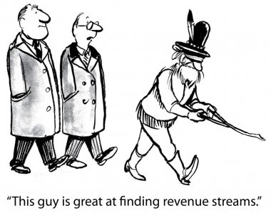 He's great at finding revenue