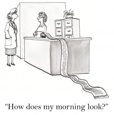 Woman asks about his morning appearance
