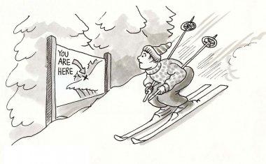 Skier is in danger zone.
