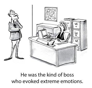 Worker is frightened by boss