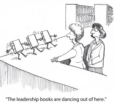 Leadership books are dancing out