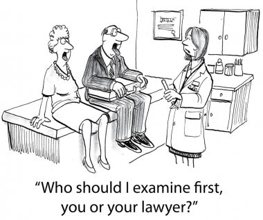You or your lawyer examine first