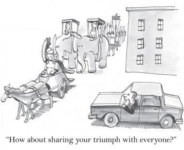 Sharing your triumph with everyone