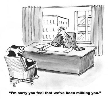 Employee is Feeling Milked