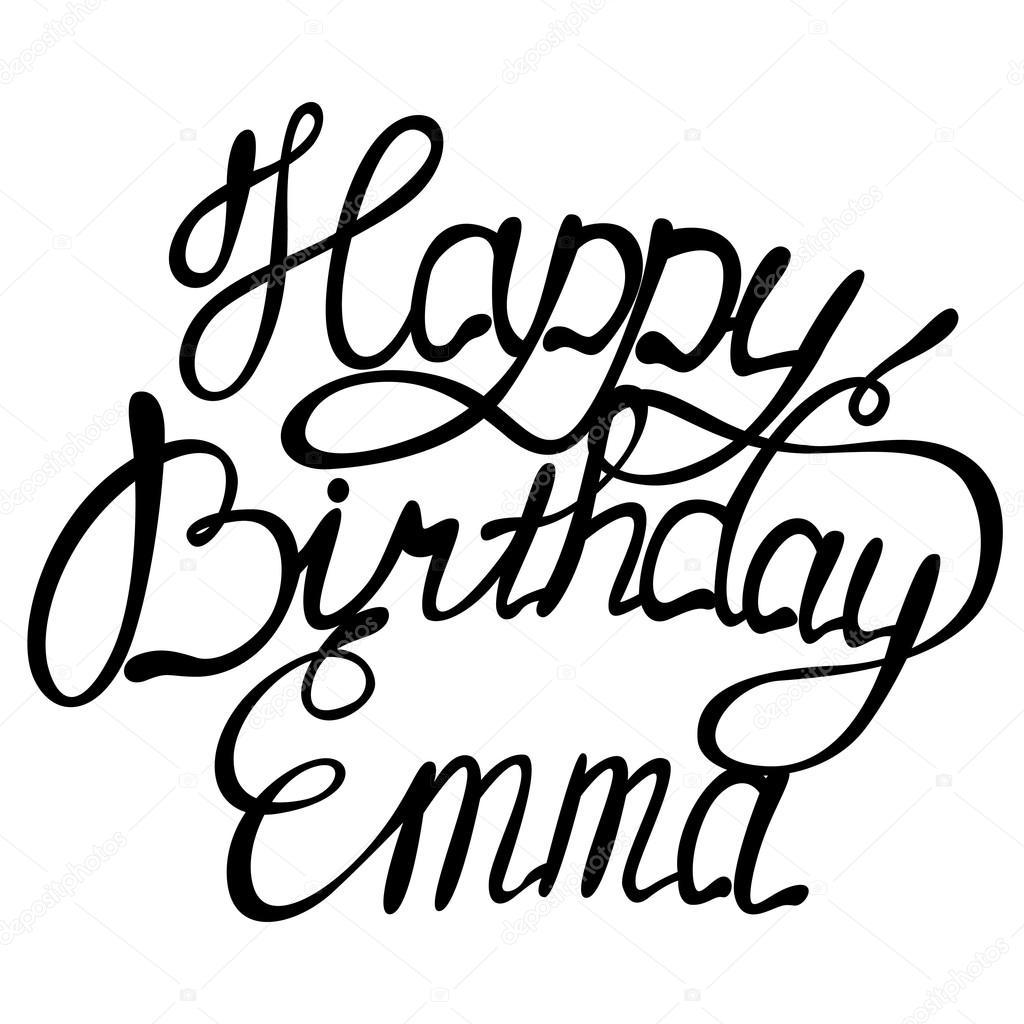Joyeux Anniversaire Emma Image Vectorielle Marishayu C 103923096