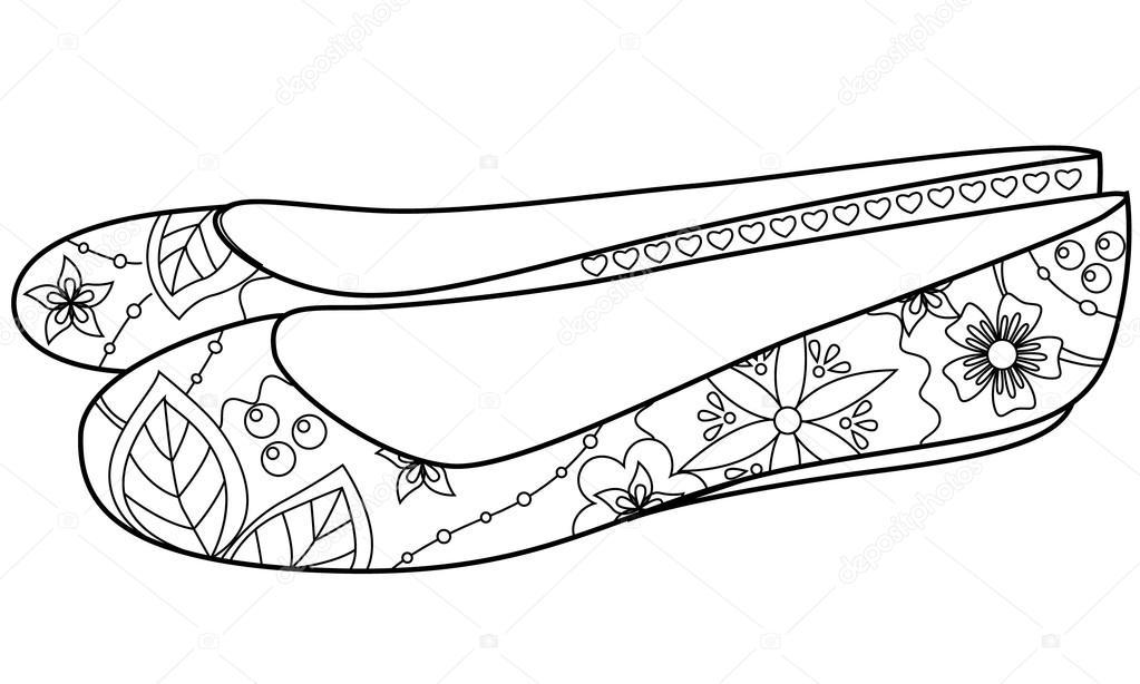 Imágenes: zapatillas de ballet clasico para colorear | colorfing de ...