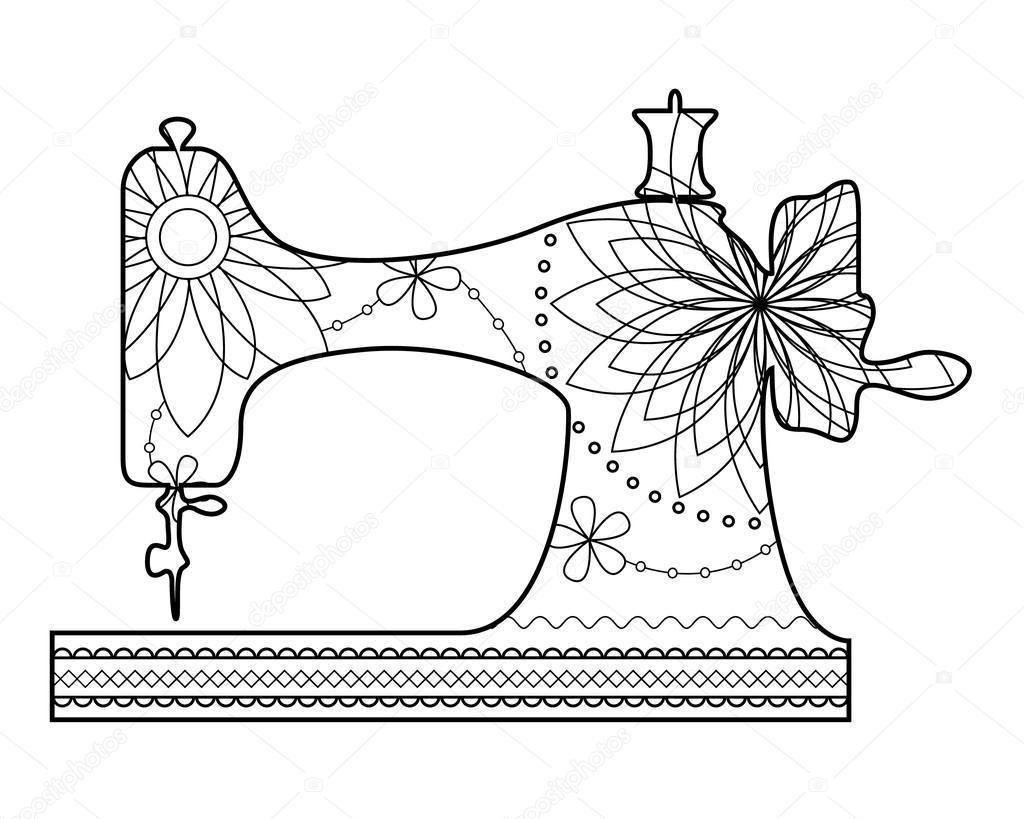 disegni da colorare macchina da cucire