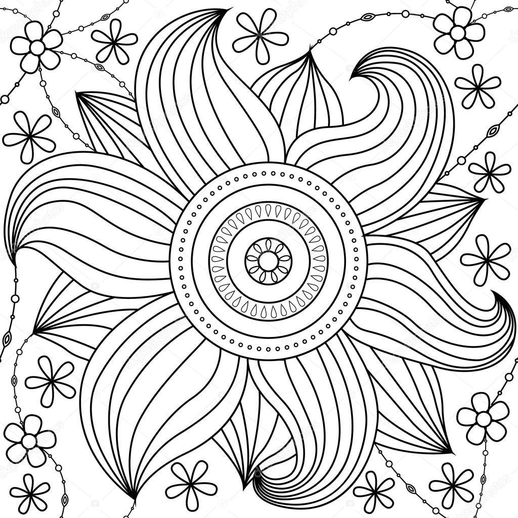 Big Flower Pattern Coloring Stock Vector C Marishayu 113901718,Boneless Ribs In Oven