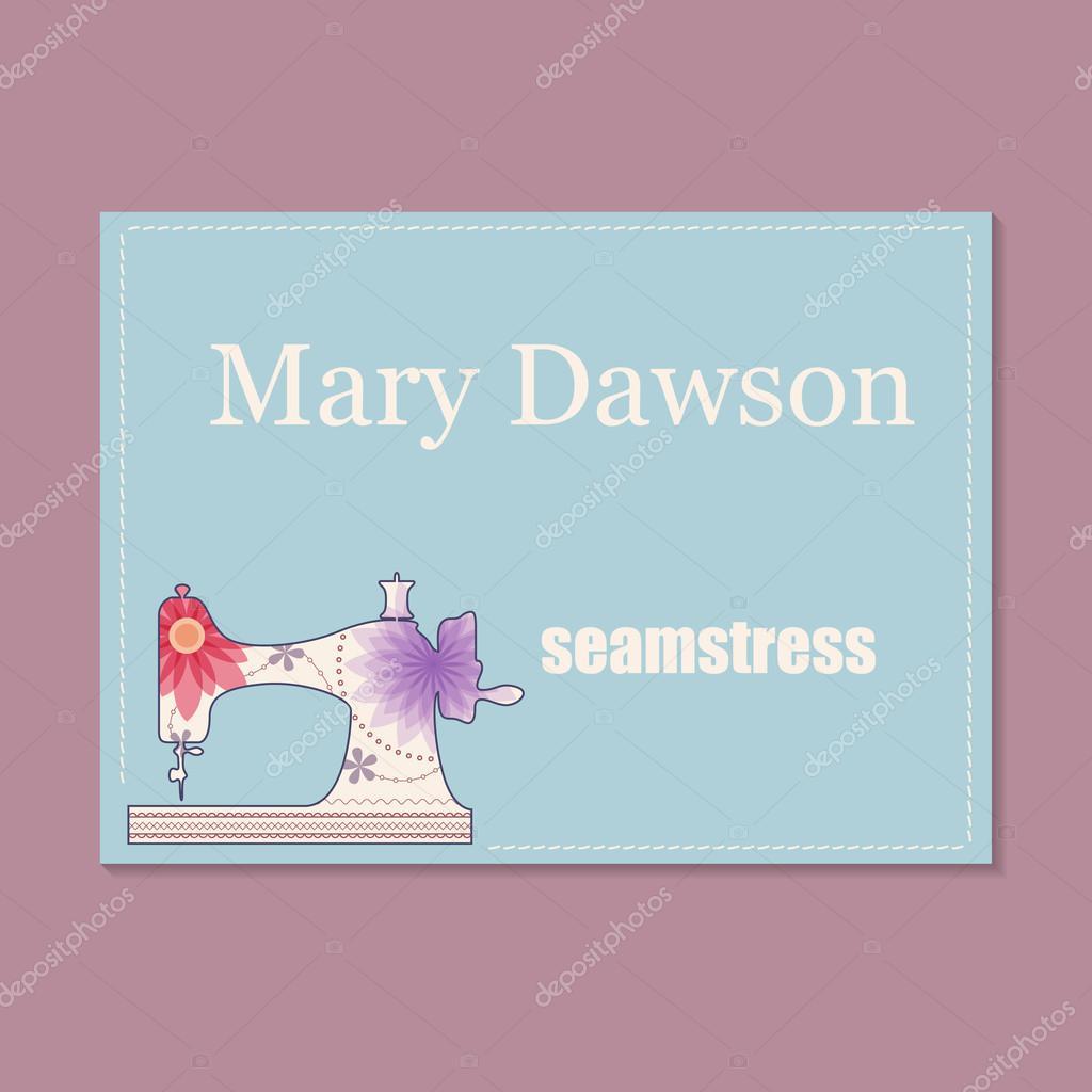Business card for seamstress — Stock Vector © Marishayu #120816152