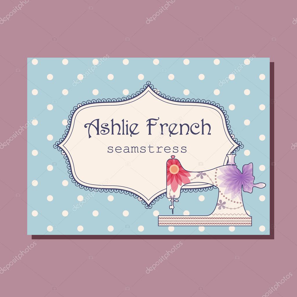 Business card for seamstress — Stock Vector © Marishayu #121017104