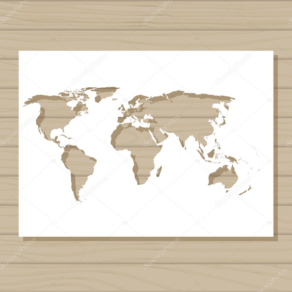 Contour world map stock vector marishayu 51154677 stencil template of world map on wooden background royalty free stock vectors gumiabroncs Image collections