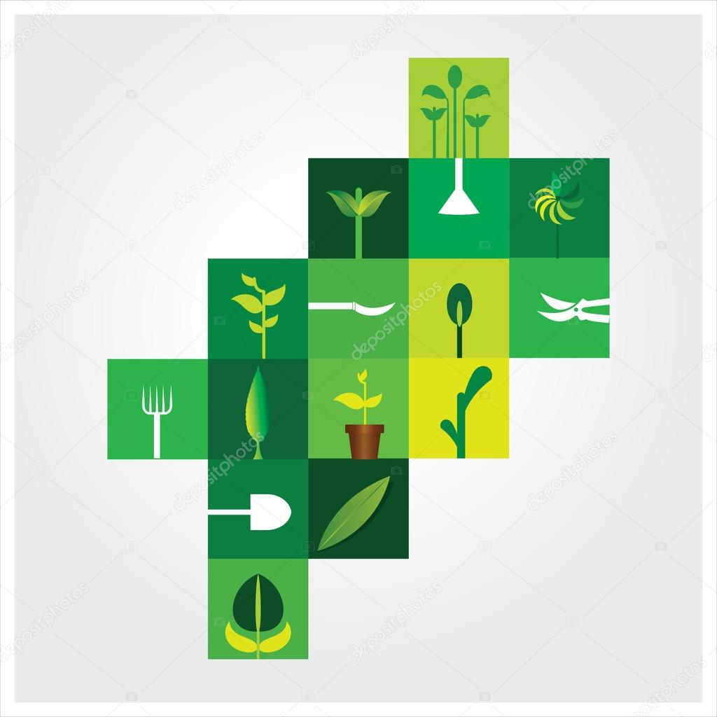 Plant & agriculture   harvesting  Vector illustration