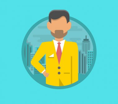 Male face avatar. flat style vector icons set People vector icon. icon