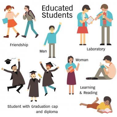 Educated student set