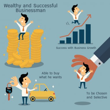 Wealthy and successful businessman