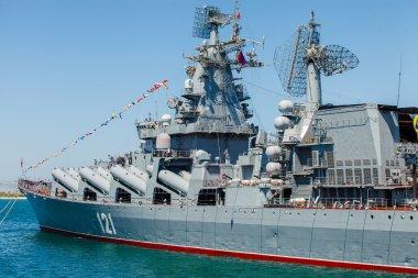 SEVASTOPOL, CRIMEA - MAY 9: Parade of warships