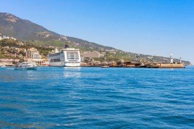 YALTA, UKRAINE - MAY 21. MSC Lirica cruise ship