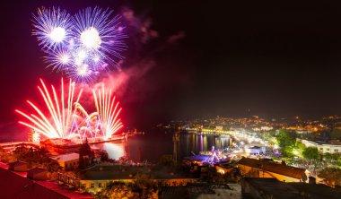 Fireworks night at Yalta. Crimea