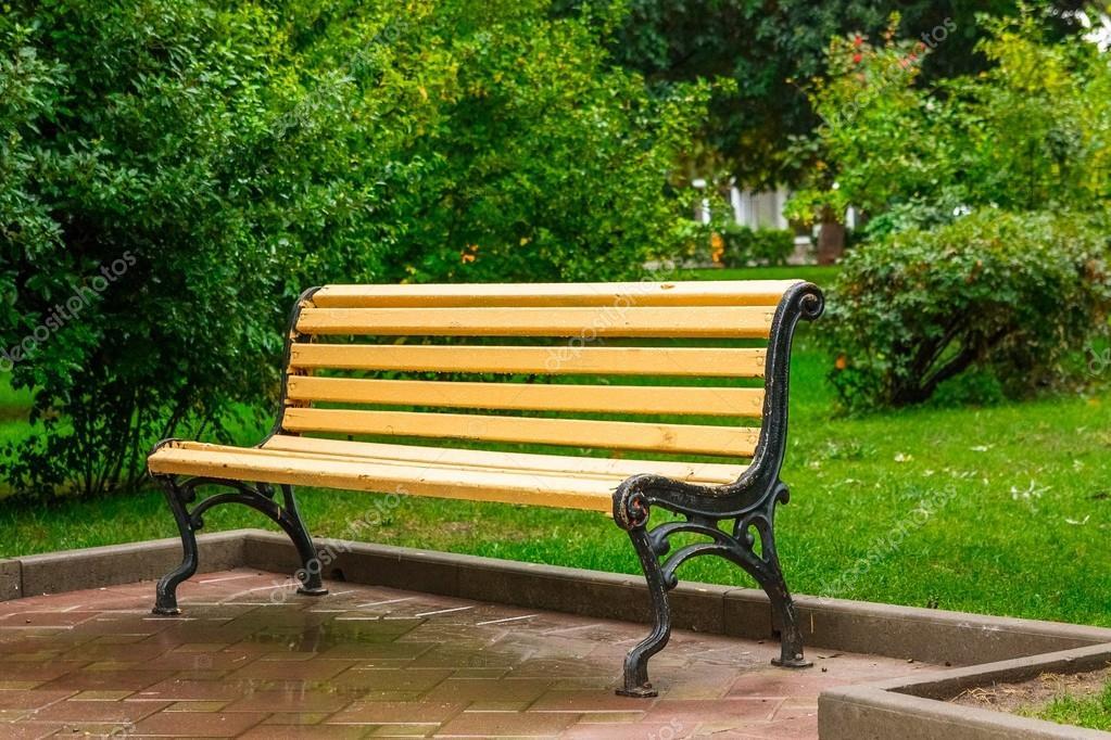 скамейка в парке фото
