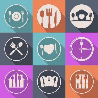 Vector kitchen icon food