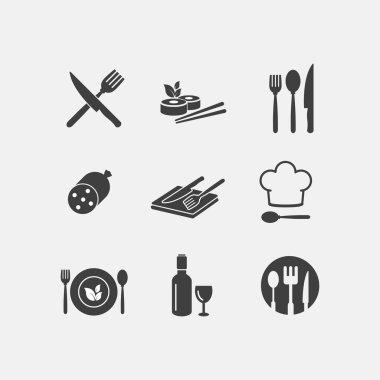 Vector restaurant food icon cuisine
