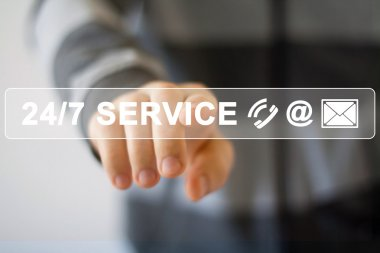 Business button 24 hours service
