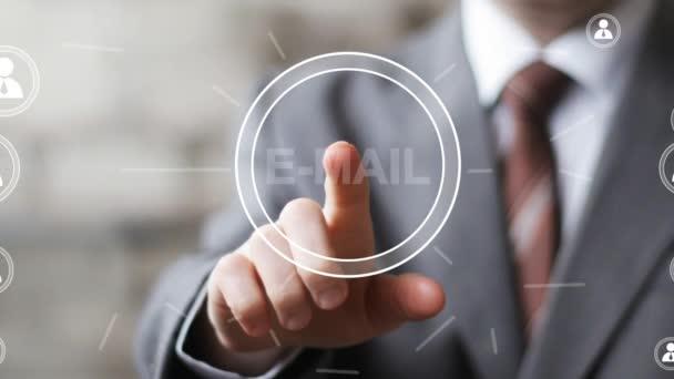 Obchodní tlačítko ikona online zasílání pošty odesílání webových