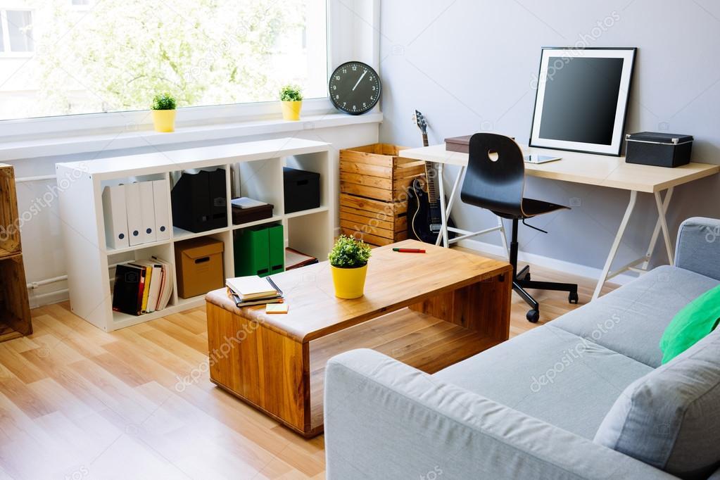 Bureau Moderne Chambre : Chambre moderne intérieur de bureau à domicile u photographie