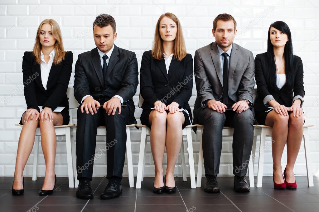 Business people waiting for interview — Stock Photo ...