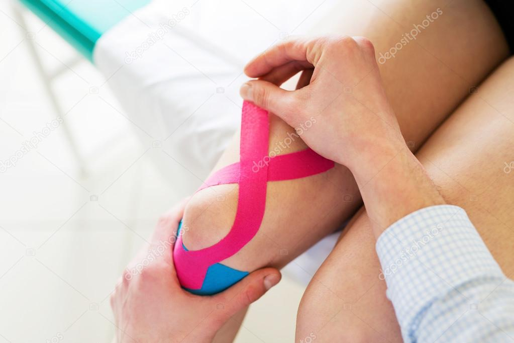 Kineseology taping for knee pain