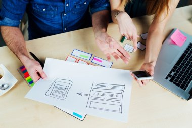 Web designers working on a responsive design project