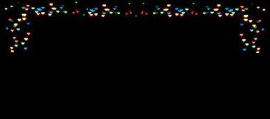 background frame of garlands