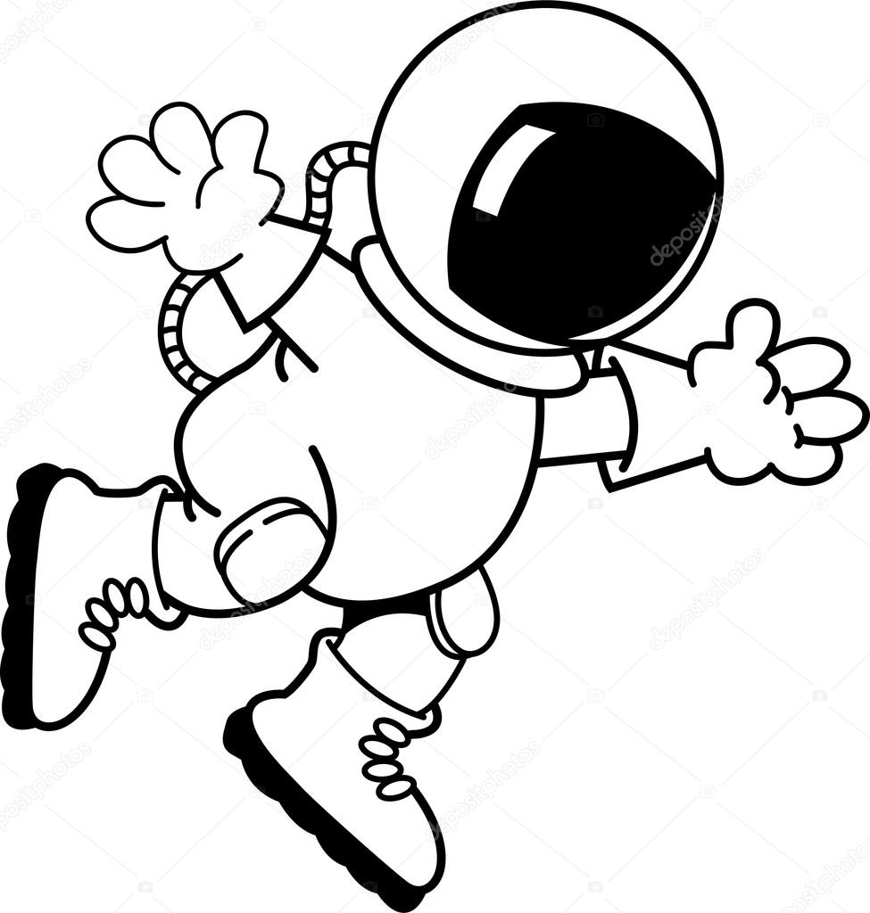 astronaut floating in space cartoon - photo #31