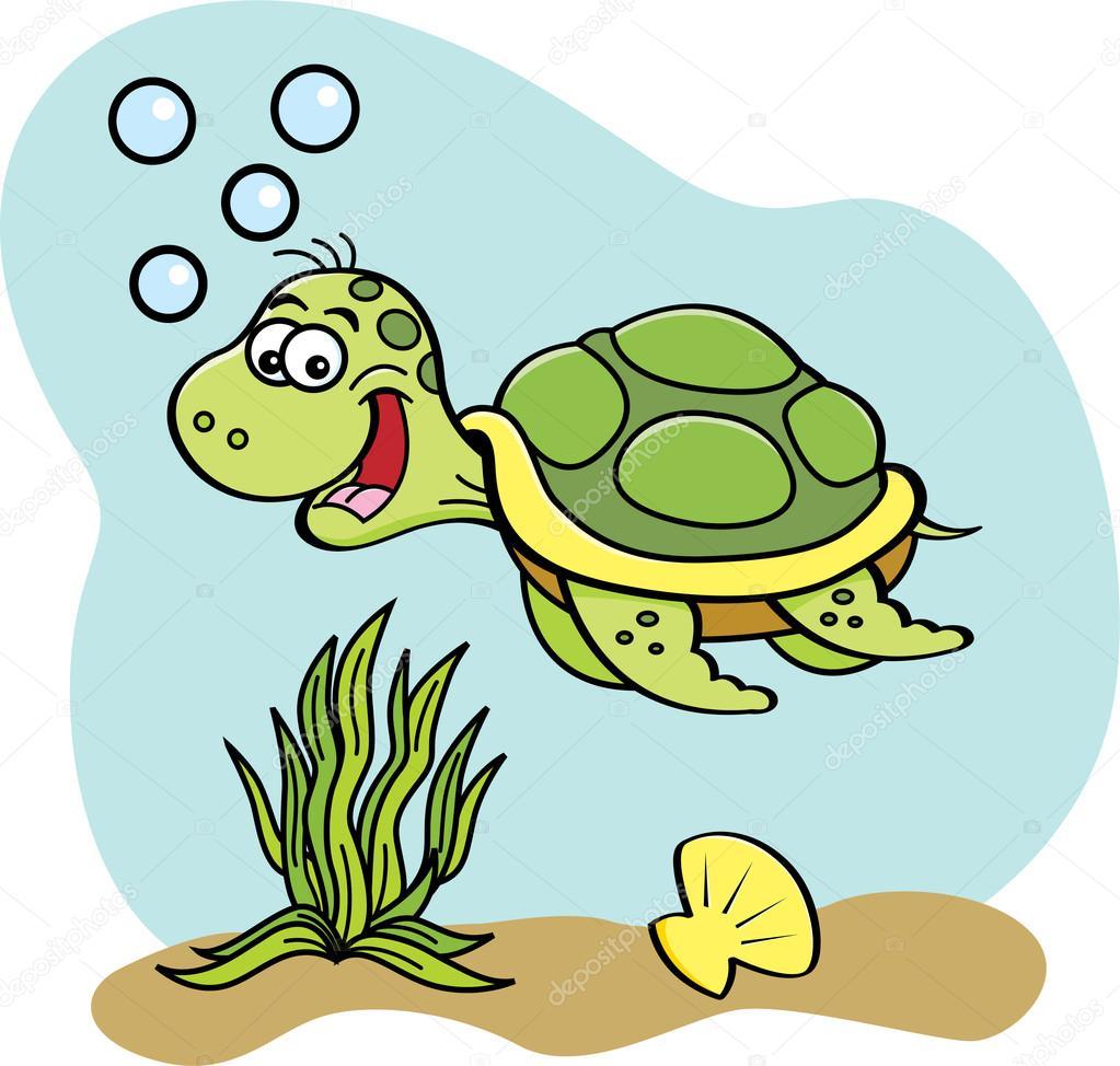 Im genes animales que nadan animados tortuga de dibujos animados nadando bajo el agua - Clipart tortue ...