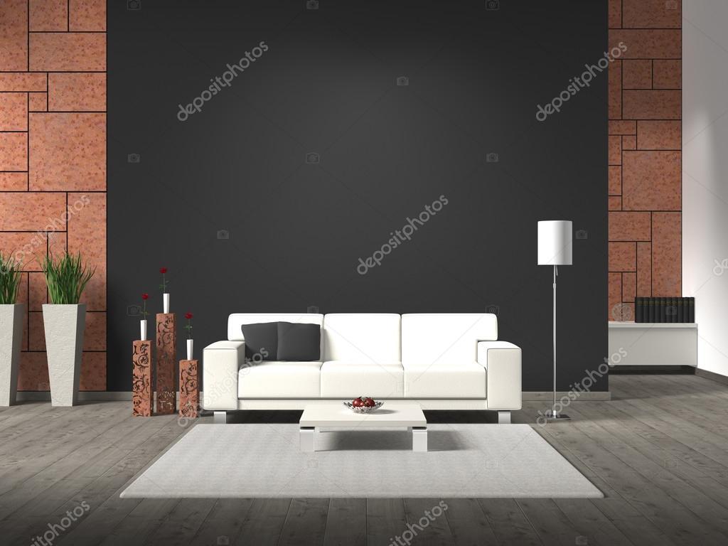 Interieur Staal Interieur : Interieur met roestige stalen wandbekleding u stockfoto