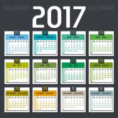 calendar 2017 including weeks