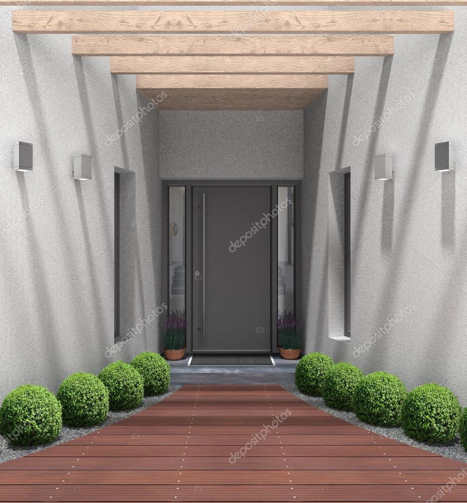 Entrada principal casa moderna entrada casa moderna for Casa moderna immagini