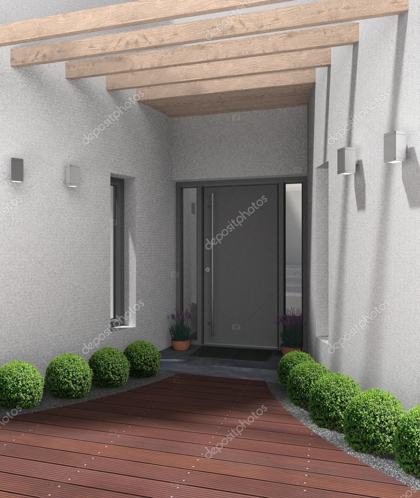 Entr e moderne avec porte d 39 entr e photographie - Porte entree moderne ...