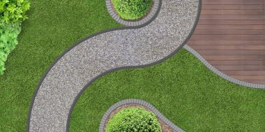 Garden design from above
