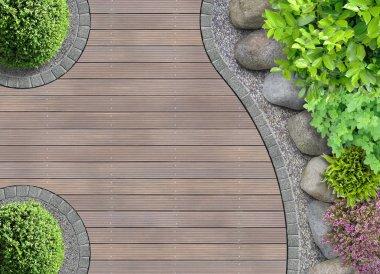 Garden detail in top view