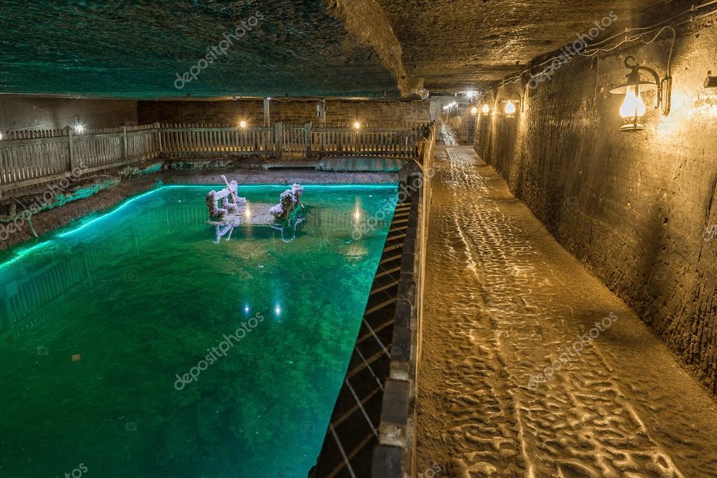 The Brine Lake of Cacia Salt Mine, Romania