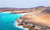 Costa nord da Aruba nei Caraibi