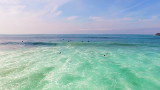 Aerial from surfing at Arifana at the west coast in Portugal