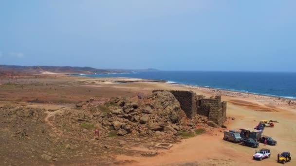 Antenna da antiche miniere doro sullisola di Aruba nei Caraibi