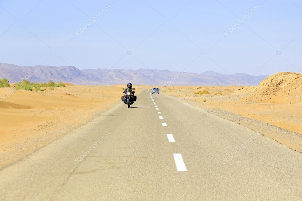 Driving in the desert