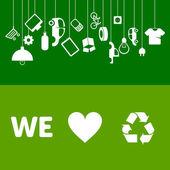 Fényképek Hulladékgazdálkodási bannerek ökológia projektek