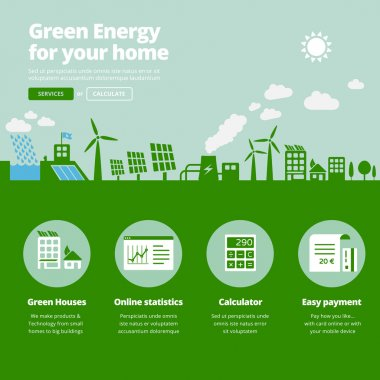 Green energy supplier icons